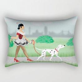 Walkin' the Dog Rectangular Pillow