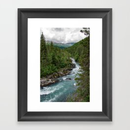 Alaska River Canyon - II Framed Art Print