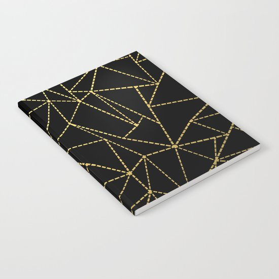 Ab Dotted Gold Notebook