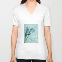 bill V-neck T-shirts featuring crane's bill  by PaulaPanther