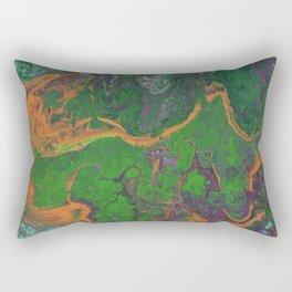 Renaissance OrangeGreen Rectangular Pillow