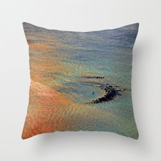 Colors of the Caribbean Throw Pillow