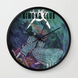 Kimono Club Wall Clock