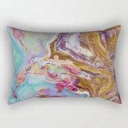Geode Print, Rock Print, Rock Art, Agate, Macro Photography, Abstract, Colorful, Rainbow, Geology Rectangular Pillow