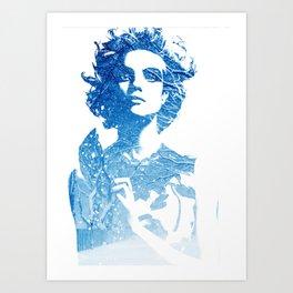 Snow: Natalia Vodianova Art Print