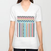 tribal V-neck T-shirts featuring Tribal by Kakel