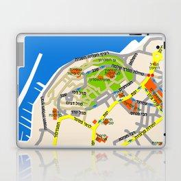 Tel Aviv Jaffa map design - written in Hebrew 2  Laptop & iPad Skin
