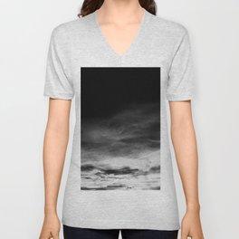 BLACK & WHITE TOUCHING #1 #abstract #decor #art #society6 Unisex V-Neck
