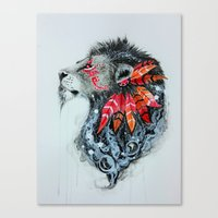 warrior Canvas Prints featuring Warrior by Jonna Lamminaho