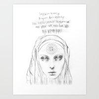 benedict Art Prints featuring St. Benedict by Casstronaut