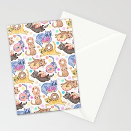 Sprinkles on Donuts and Whiskers on Kittens Stationery Cards