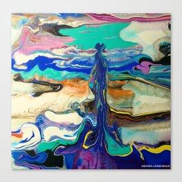 Contrary fluidity Canvas Print