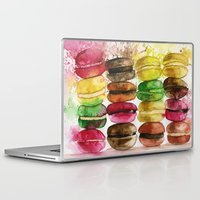 macarons Laptop & iPad Skins featuring macarons by Olga Gridneva