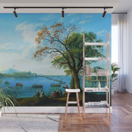 Caccia sul Fusaro Hunting Party by Jakob Philipp Hackert Wall Mural