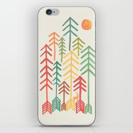 Arrow forest iPhone Skin