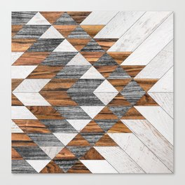 Urban Tribal Pattern 12 - Aztec - Wood Canvas Print