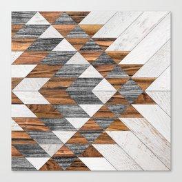 Urban Tribal Pattern No.12 - Aztec - Wood Canvas Print