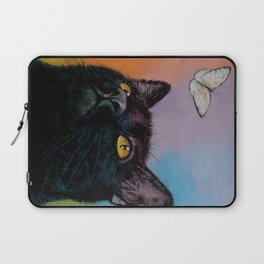 Black Cat Butterfly Laptop Sleeve