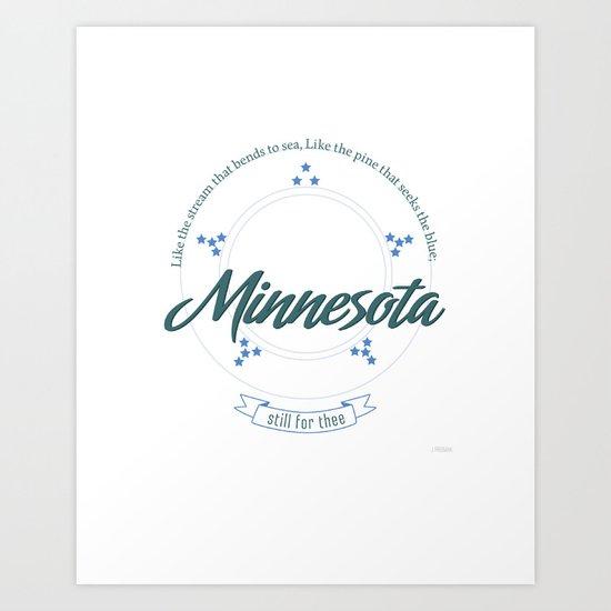 Minnesota Poster Art Print