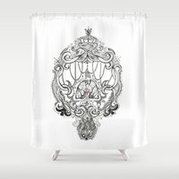 lungs Shower Curtains featuring Lungs by thhe