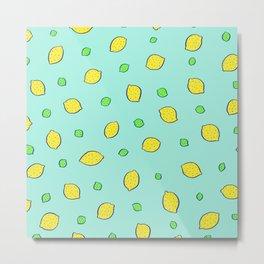 lemon-lime (teal) Metal Print