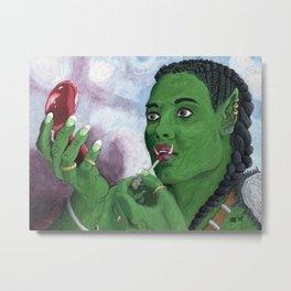 Applying War Paint Makeup Fantasy Art Metal Print