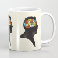 shaun of the dead Mugs featuring Shaun Phrenology by Wharton