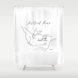 Map of Far West Texas Shower Curtain