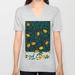 Lemon Green Unisex V-Neck