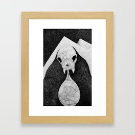 Rock Salt Gazing Framed Art Print
