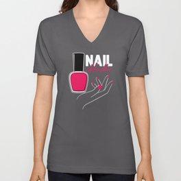 Nail Technician and Nail Artist Gift Unisex V-Neck