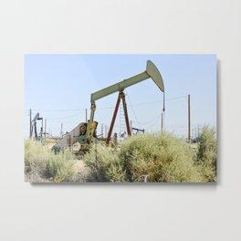 Oil Rig I Metal Print