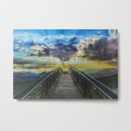 Bridge into the nature Colorful  Metal Print