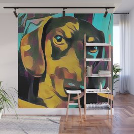 Colorful Dachshund Wall Mural