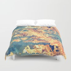 Digital Rust Abstract Duvet Cover