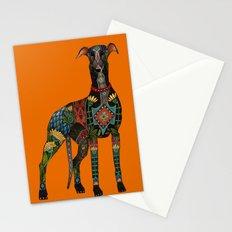 greyhound orange Stationery Cards
