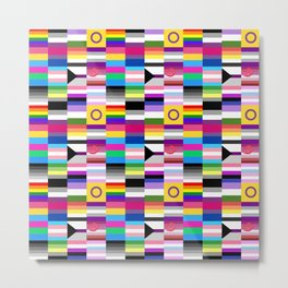 LGBT+ Pride Flags Metal Print
