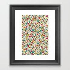 garland flowers multi Framed Art Print