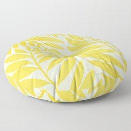 Golden Yellow Leaves Floor Pillow