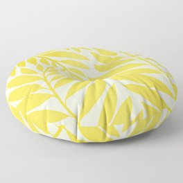 Golden Yellow Leaves Floor Pillow