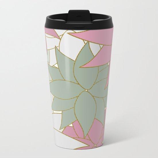 SWEET FLORAL Metal Travel Mug