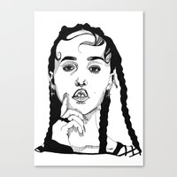 cactei Canvas Prints featuring FKA Twigs by ☿ cactei ☿
