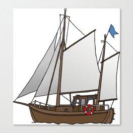 Sailing boat cutter Canvas Print