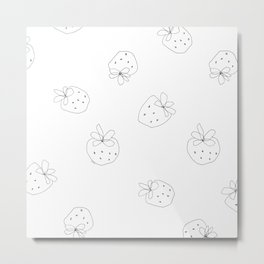 Your Color no.2 - strawberry illustration fruit pattern Metal Print