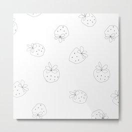 Your Color no.2 - strawberry illustration fruit pattern Metal Print