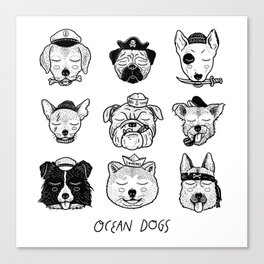 Ocean Dogs Canvas Print