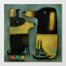 YELLOW AND BLACK HOUNDS Canvas Print