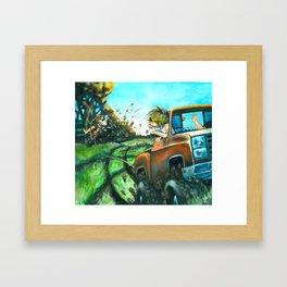 Red Neck Tubing Framed Art Print