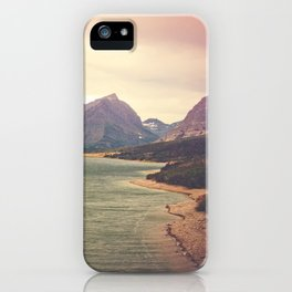 Retro Mountain Lake iPhone Case