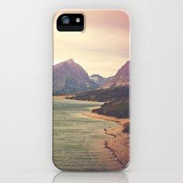 Retro Mountain Lake iPhone Case